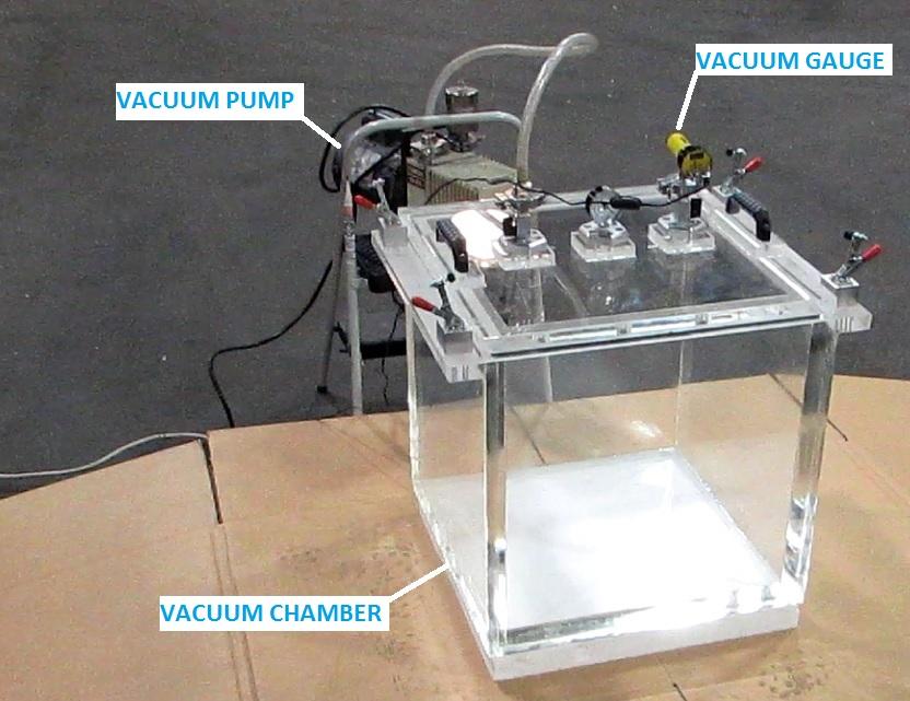Vacuum Chamber And Pump Gauge Experimental Setup