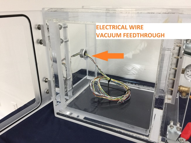 Electrical Wire Vacuum Feedthrough Installation