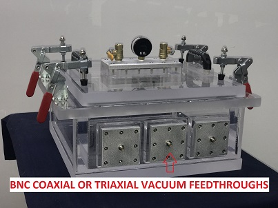 Triaxial and Coaxial BNC Connector Vacuum Feedthrough