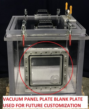 Vacuum Panel Plate for future Vacuum Chamber Customization