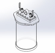 cylindrical clear acrylic vacuum chamber removable lid