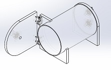cylindrical clear acrylic vacuum chamber with hinged side door
