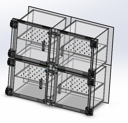 Desiccator Cabinet Four 4 Door Dry Box