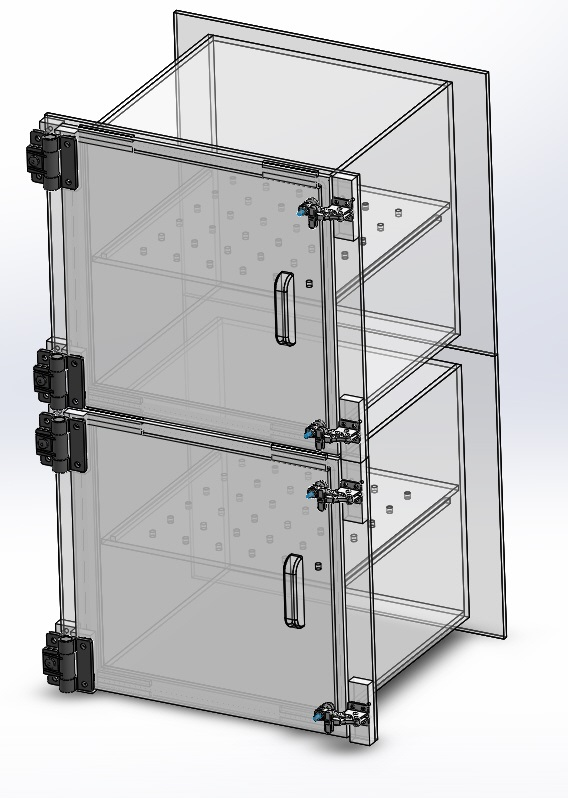 Desiccator Cabinet Two 2 Door Dry Box
