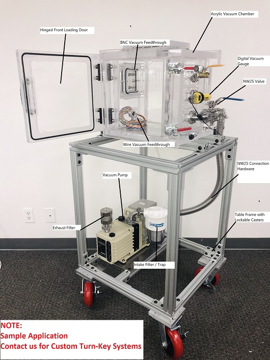 Portable Vacuum Chamber and Pump Systems