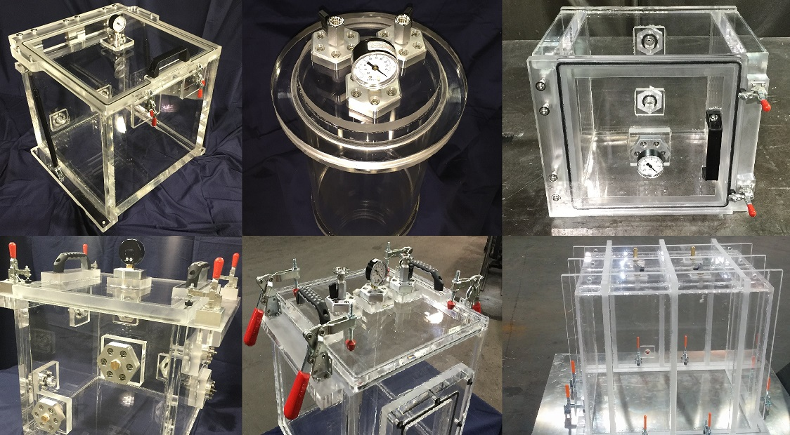 projects we completed with acrylic vacuum chambers