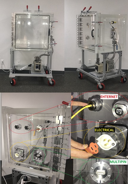 Clear Acrylic Vacuum Chamber System for Biotech Instrumentation Engineering Design