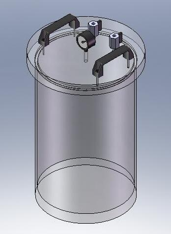 Acrylic Vacuum Chamber, Cylinder, 10 inch diameter, 12 inch height, Top Load Model, Removable Lid