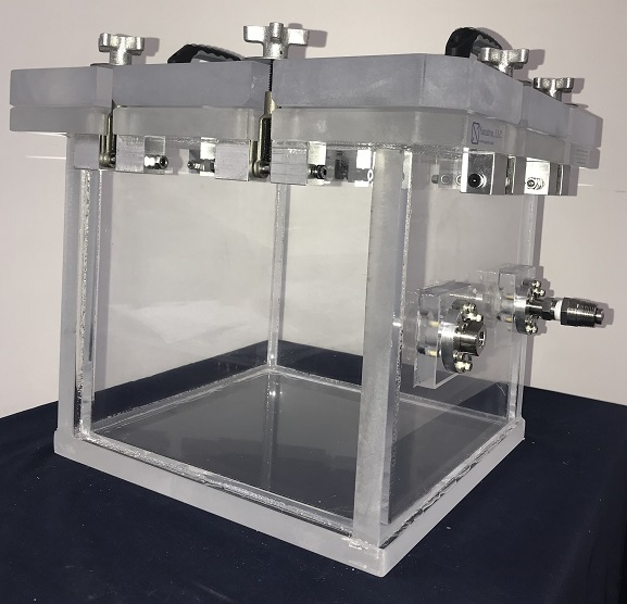 clear acrylic pressure and vacuum box used in calibration labs