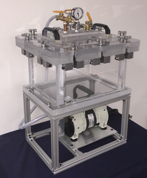 pressure and vacuum chamber system with oil free pump
