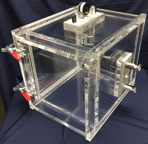 satellite experiments with plastic vaccume chamber