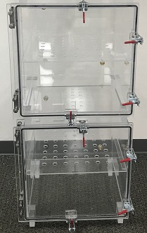 Desiccator Cabinet, Clear Acrylic, 2 Door Dry Box, 12W, 12D, 24H