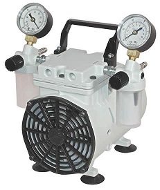 Wob-L Pressure and Vacuum Dry Pump, 115V 60Hz 1Ph, 100 Torr at 0.75 CFM