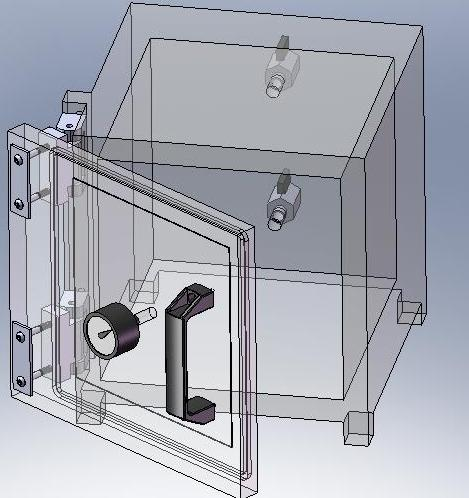 14 inch Clear Acrylic Vacuum Chamber hinged door